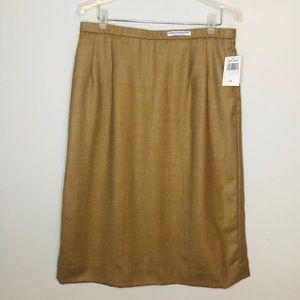 Vintage Pendleton wool tan a-line skirt size 14